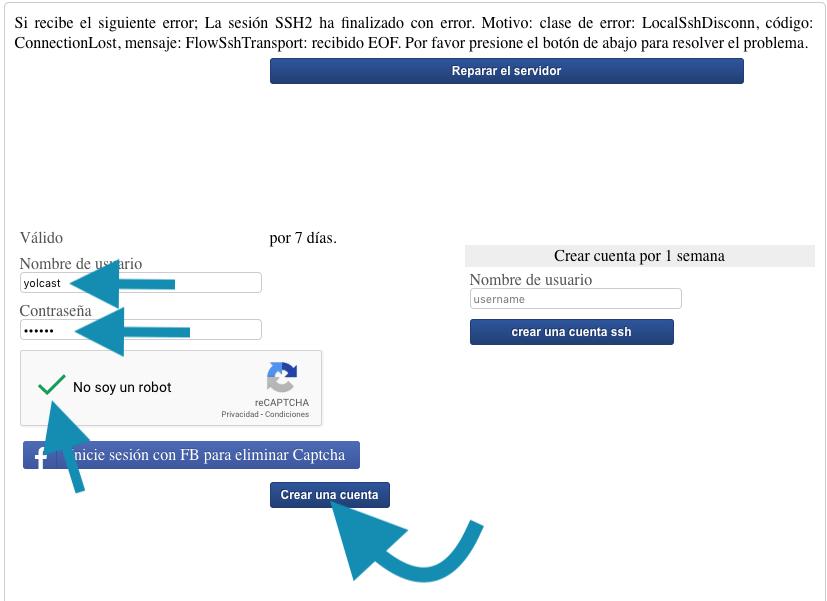 como crear cuenta ssh de un mes para http injector