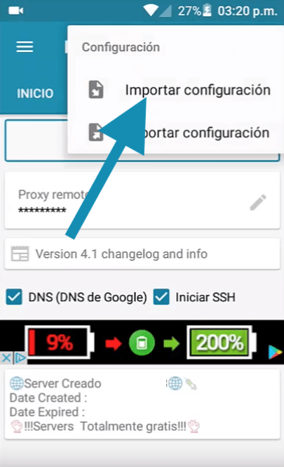 descargar servidores entel http injector vpn apk